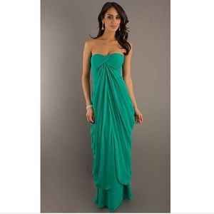 LAUNDRY by SS//emerald strapless formal dress 8
